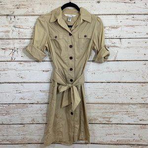 Diane Von Furstenberg Button Down Cream Dress